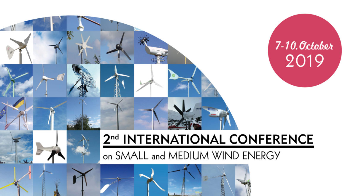 2nd INTERNATIONAL CONFERENCE ON SMALL AND MEDIUM WIND ENERGY 6.-10. October 2019